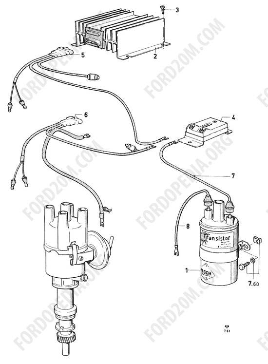 Koeln V4/V6 engines (1962-1974) - Transistor ignition system (17M/20M/26M)