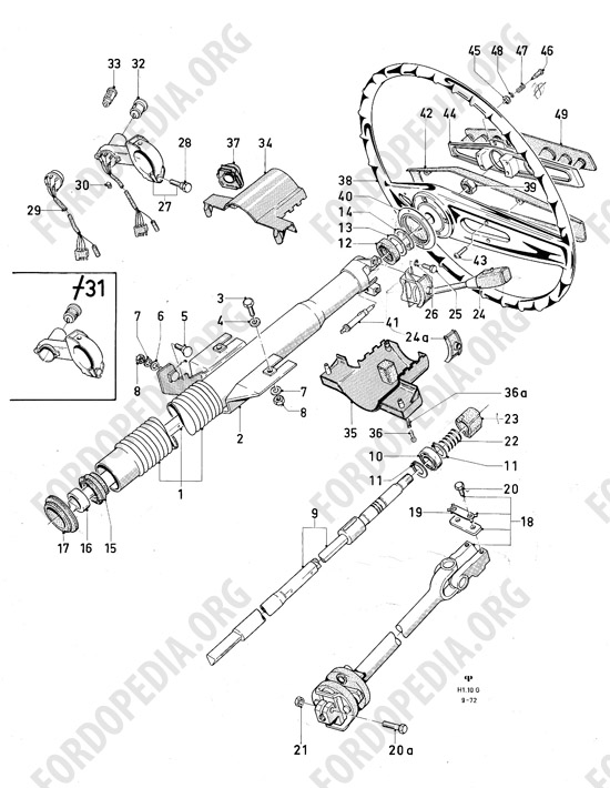 72 ford steering column wiring diagram