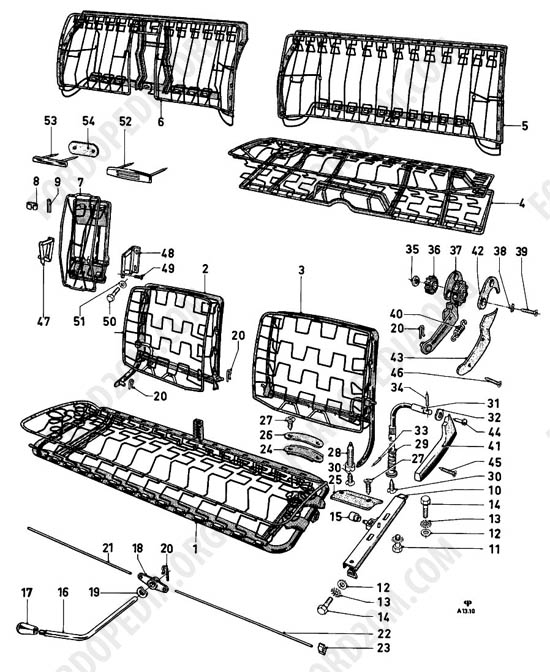 Awe Inspiring Ford Taunus 17M 20M P5 P7 Parts List A13 10 Front Bench Dailytribune Chair Design For Home Dailytribuneorg
