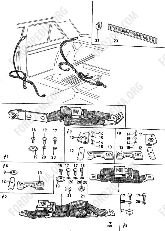 Ford Taunus 17m/20m P5/P7 - Safety belts