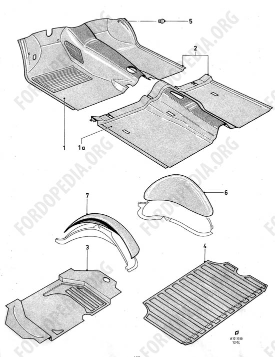 Ford Taunus/Cortina (1970-1975) - Rubber floor mats