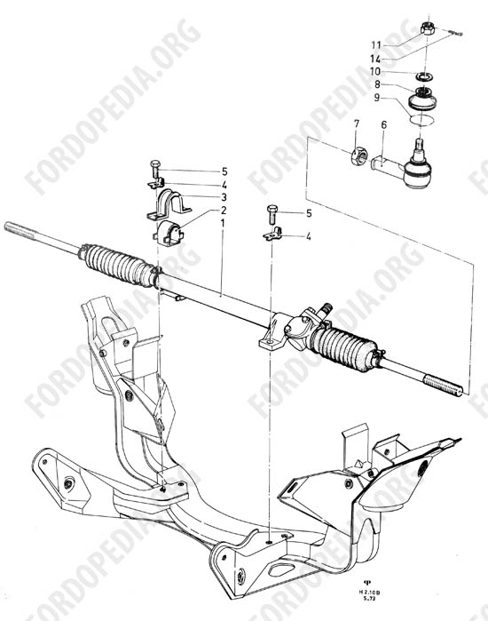 Ford Taunus/Cortina (1970-1975) - Steering gear and steering linkage