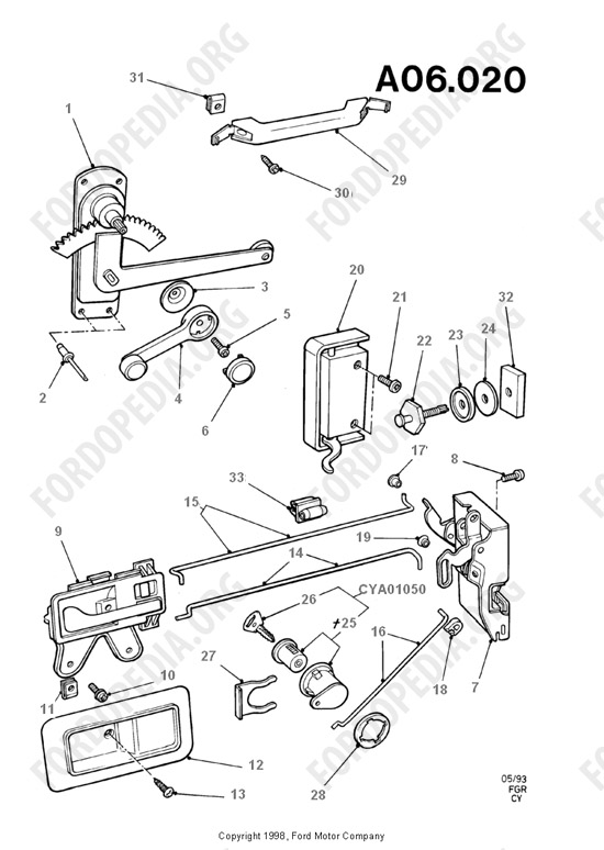 ford van power lock wiring diagram