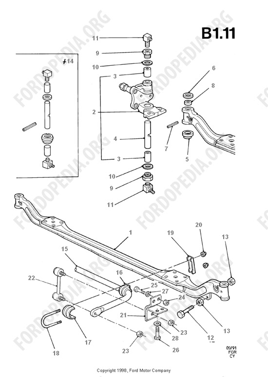 Ford Front Axle Parts