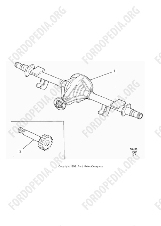 Ford Transit MkIII (1985-1991) parts list: Z7 736 - Rear Axle Ratio