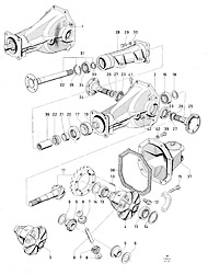 Rear axle components