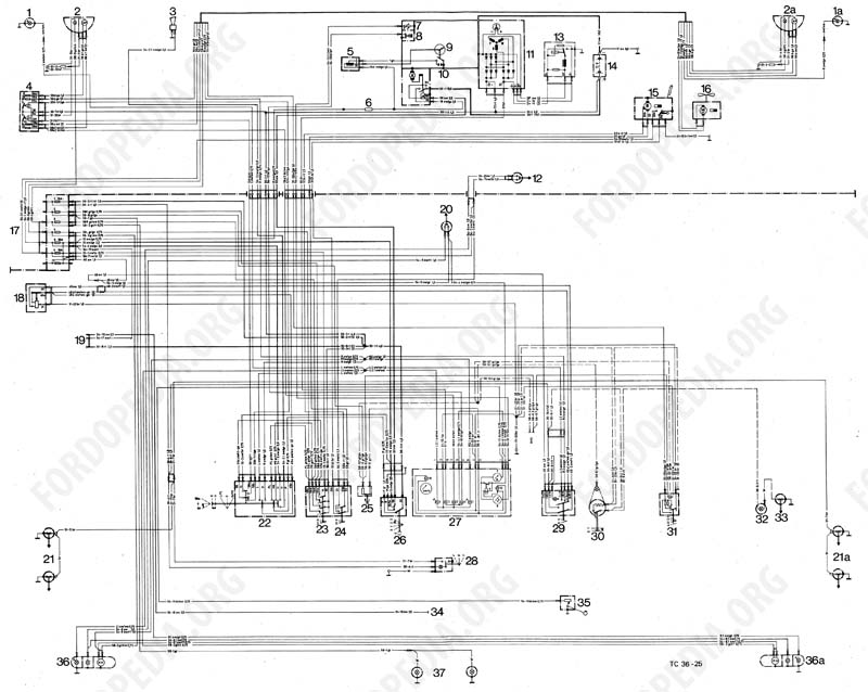 Wiring diagrams: Taunus TC1 / Cortina Mk3 - 08.1973 onwards - base version, L version