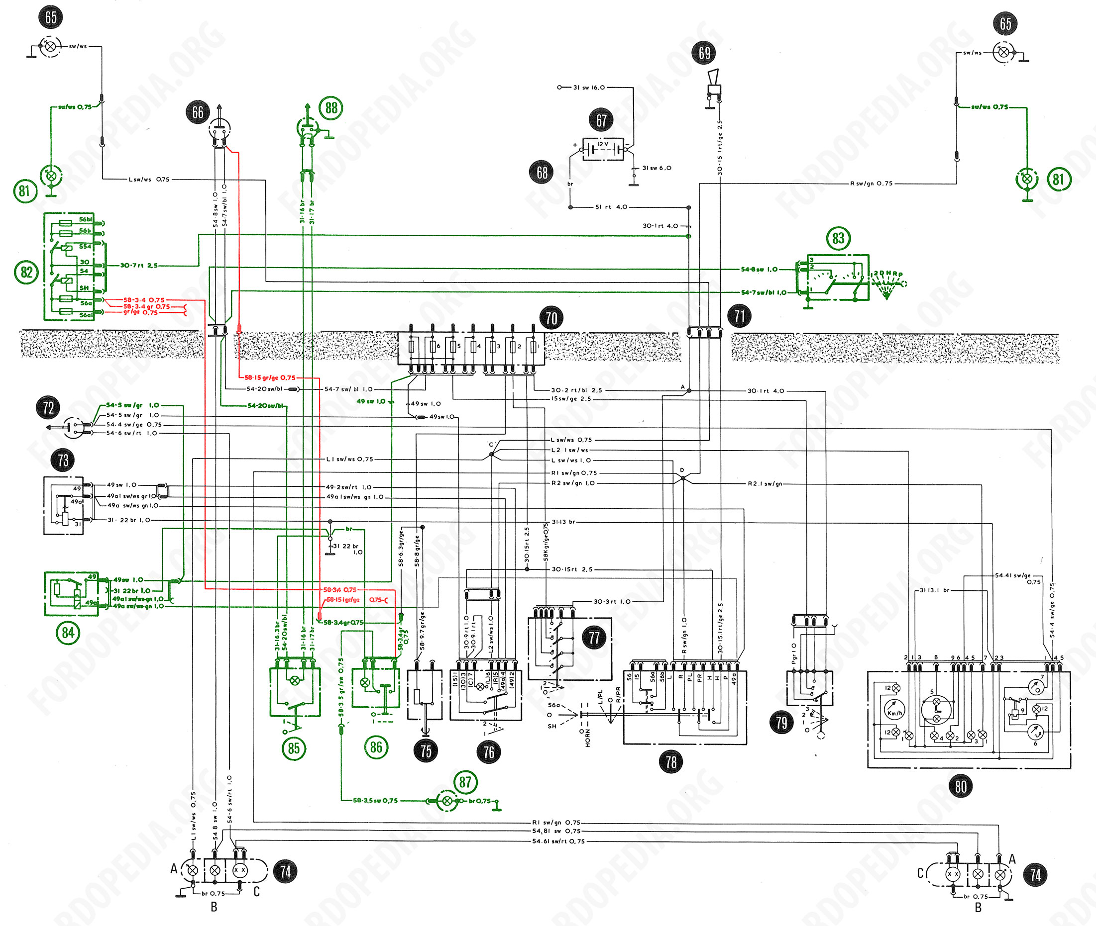 Wiring For Lamp Switch Download Full Size Image 2191x1965 348 Kb Diagrams Taunus Tc2 Cortina Mk4 Base Version L Gl