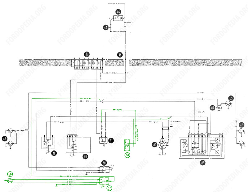 - fordopedia.org interior lamp wiring a floor lamp wiring diagram