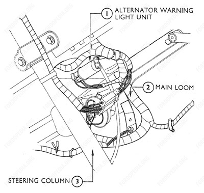 95 Mustang Air Bag Module Location on air bag harness repair