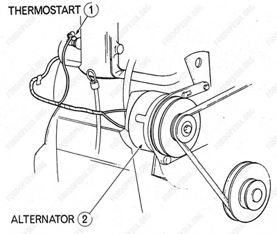 fordopedia Ford L8000 Alternator Wiring wiring diagrams ford transit mki f o b 09 1968 to 09 1970 thermostart