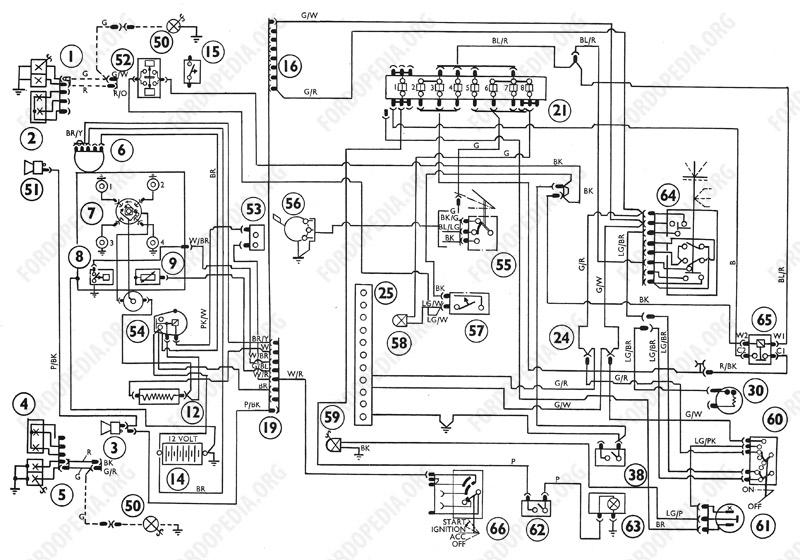 Wiring diagrams: Ford Transit MkI (F.O.B.) (09.1968 to 09.1970) - Wiring diagram (regular production options)