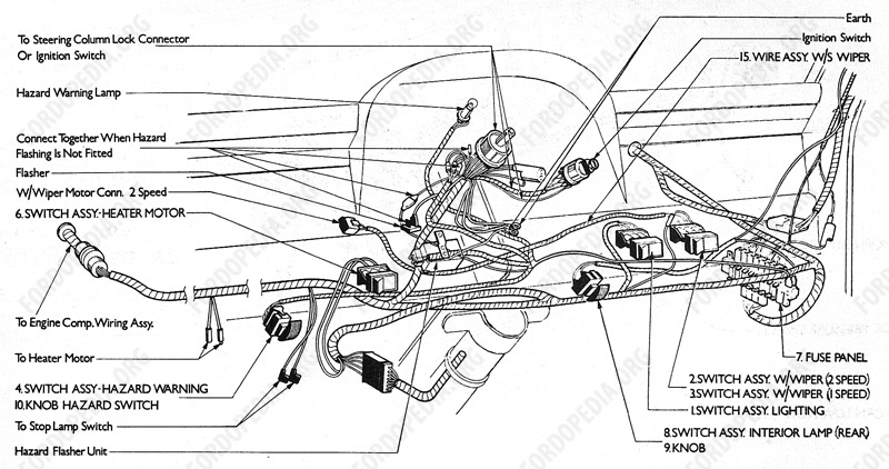 fordopedia org wiring diagrams ford transit mki f o b 09 1970 onwards dashboard wiring